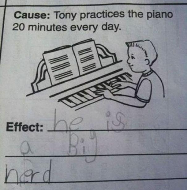 Childrens Test Answers That Are Beyond Genius - 38 test answers totally wrong 100 genius