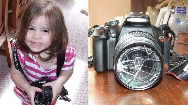 "The parent who let their daughter ""try"" the camera:"